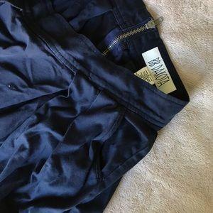 BB Dakota Navy Mini Skirt with pockets